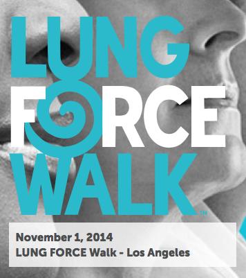 Lung Force Walk, November 1st!